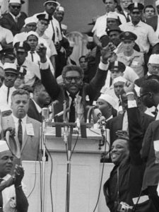 Bayard Rustin at Washington March