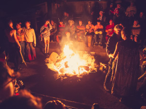 campfire revelry at Groundswell