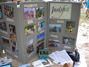 Innisfree presents during the communities salon at twin oaks