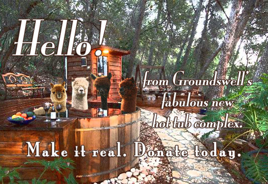 Groundswell retreat center hot tub campaign