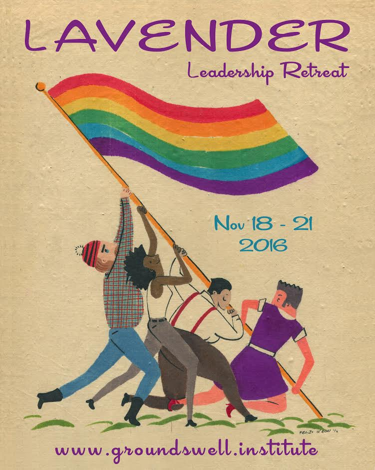 Lavender queer leadership retreat main poster