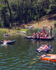 pond party- into the woods drag party and campout